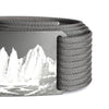 grip6 belts men's half dome buckle w/ grey strap