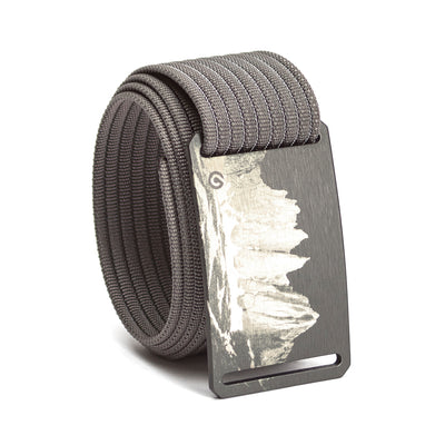 grip6 belts men's half dome buckle w/ grey strap swatch-image