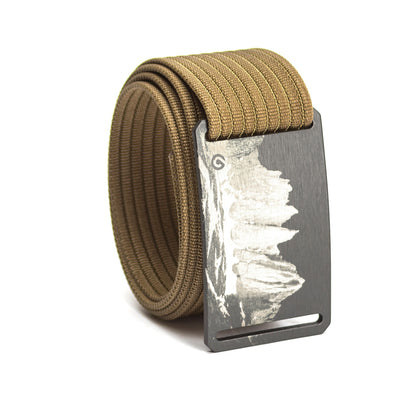 grip6 belts men's half dome buckle w/ khaki strap swatch-image