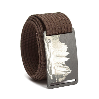 grip6 belts men's half dome buckle w/ mocha strap swatch-image