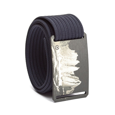 grip6 belts men's half dome buckle w/ navy strap swatch-image