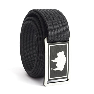 Men's Wyoming Flag Narrow Buckle GRIP6 belt with Black strap swatch-image