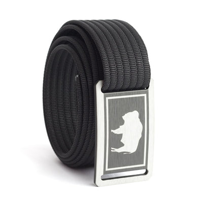 Kids' Wyoming Flag Buckle GRIP6 belt with Black strap swatch-image