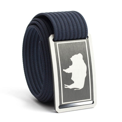 Men's Wyoming Gunmetal Buckle GRIP6 belt with Navy strap swatch-image