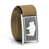 Men's Wyoming Gunmetal Buckle GRIP6 belt with Khaki strap swatch-image