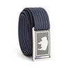 Women's Wyoming Flag Buckle GRIP6 belt with Navy strap swatch-image