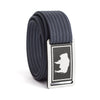 Men's Wyoming Flag Narrow Buckle GRIP6 belt with Navy strap swatch-image