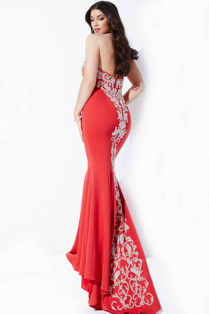 Jovani Strapless Fitted Prom Dress 20015