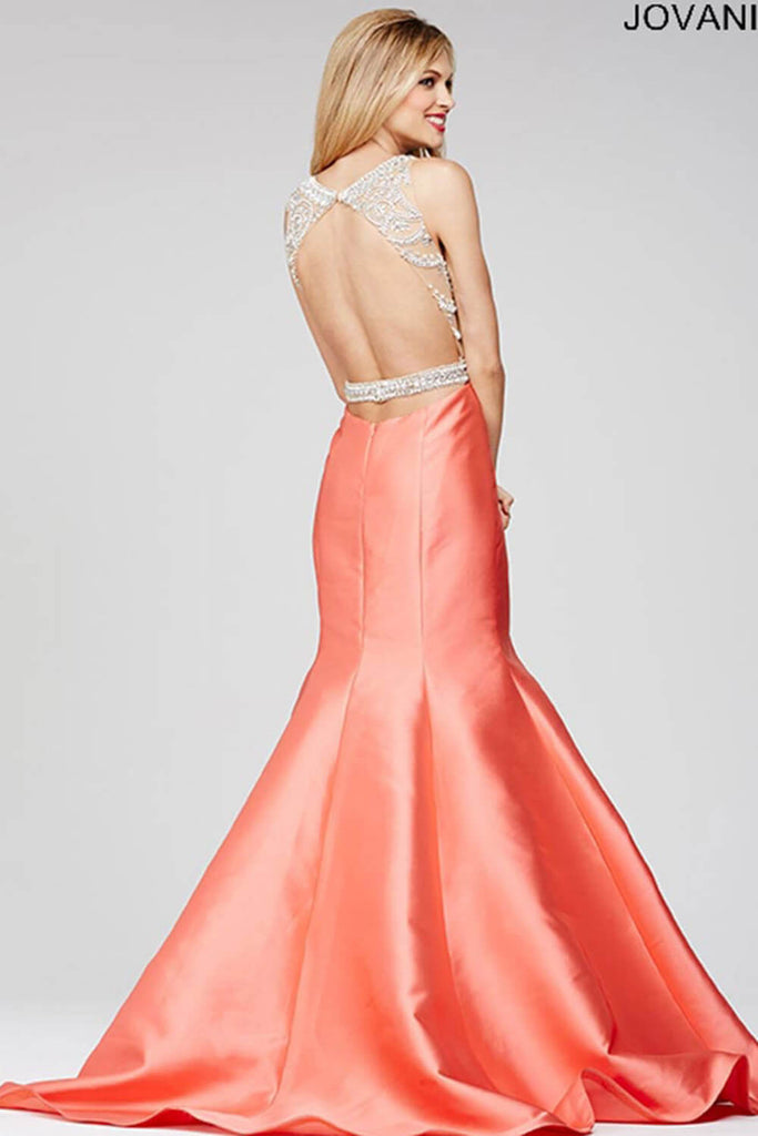 Jovani Red Mermaid Prom Dress 22623