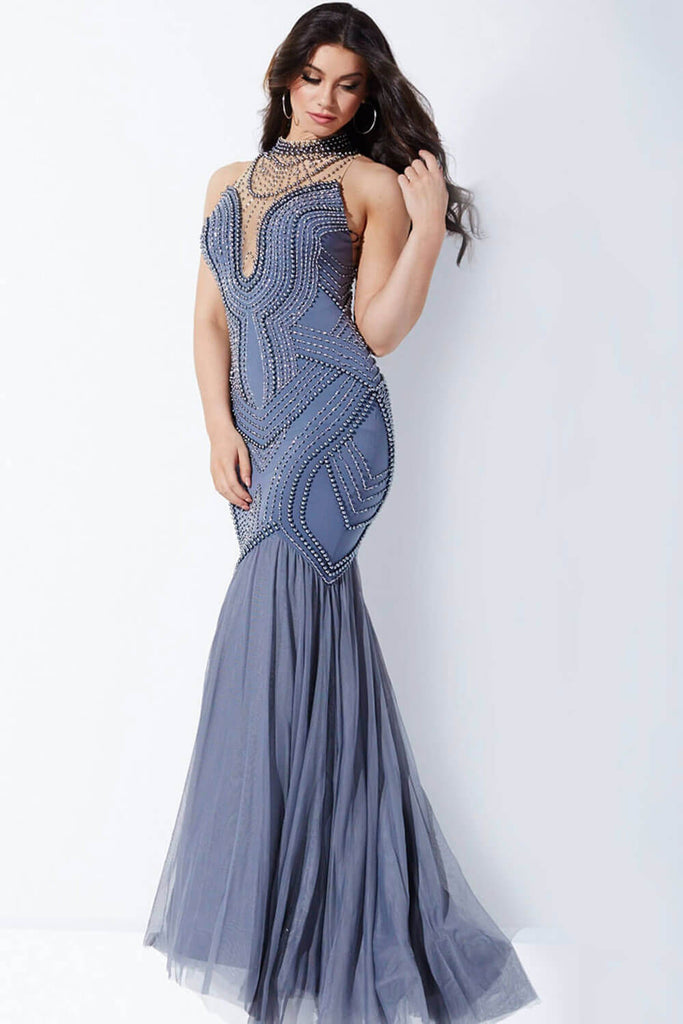 Jovani White Mermaid Prom Dress 24663
