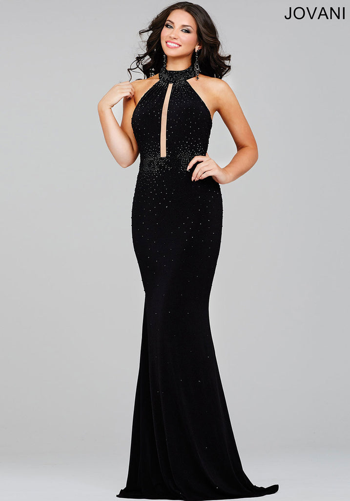 Jovani Royal Jersey Fitted Prom Dress 26919