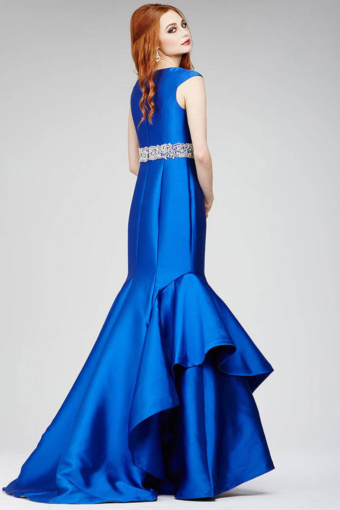Jovani Royal Blue Mikado Prom Dress 28124