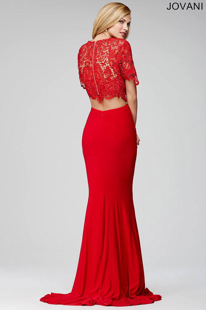 Jovani Red Two-Piece Prom Dress 28428