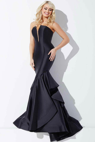 Jovani Black Jersey Sleeveless Dress 24458