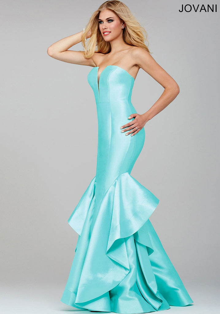 Jovani Mint Green Strapless Mermaid Dress 28900