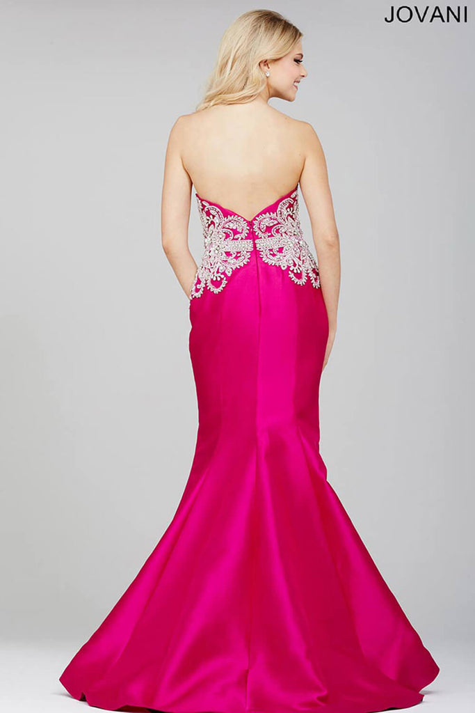 Jovani Fuchsia Pink Mermaid Prom Dress 29158