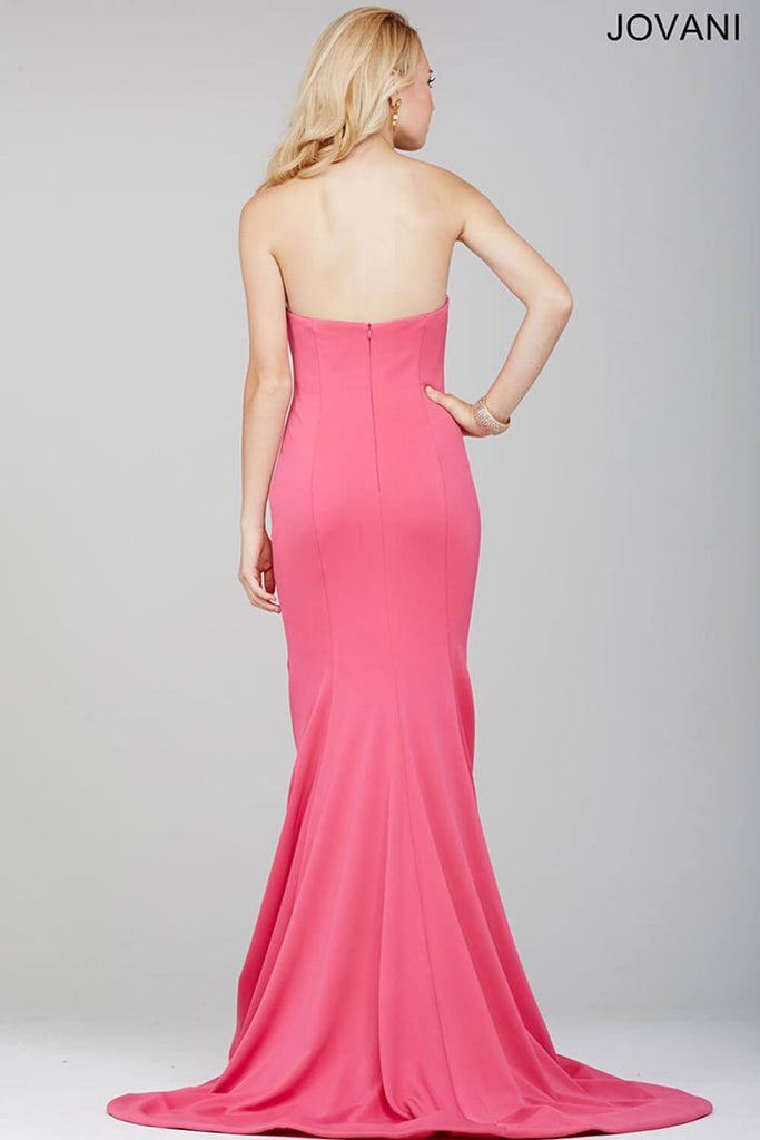 Jovani Pink Fitted Strapless Dress 31147