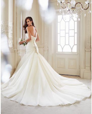 Mermaid Sweetheart Crystal Applique Wedding Dress