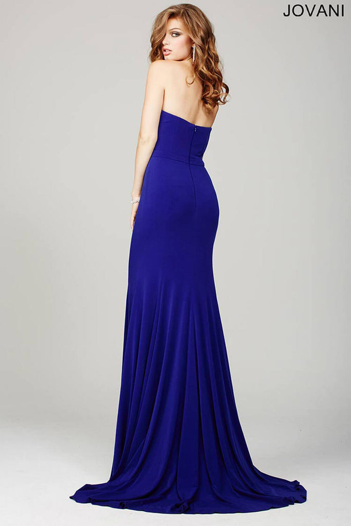 Jovani Purple Strapless Simple Dress 32801