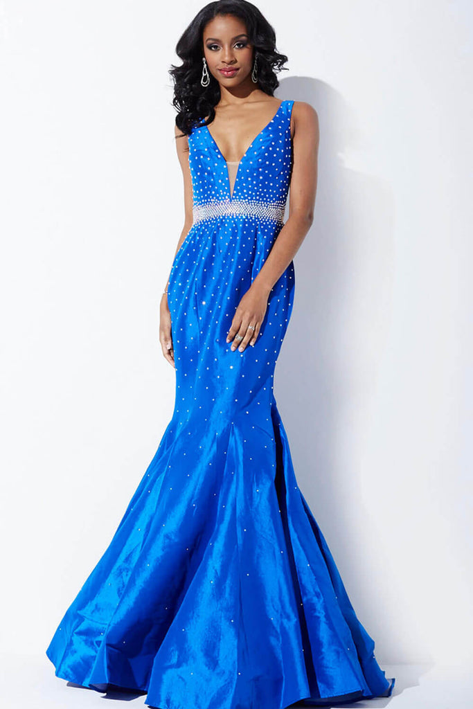 Jovani Gunmetal Grey Mermaid Prom Dress 33072