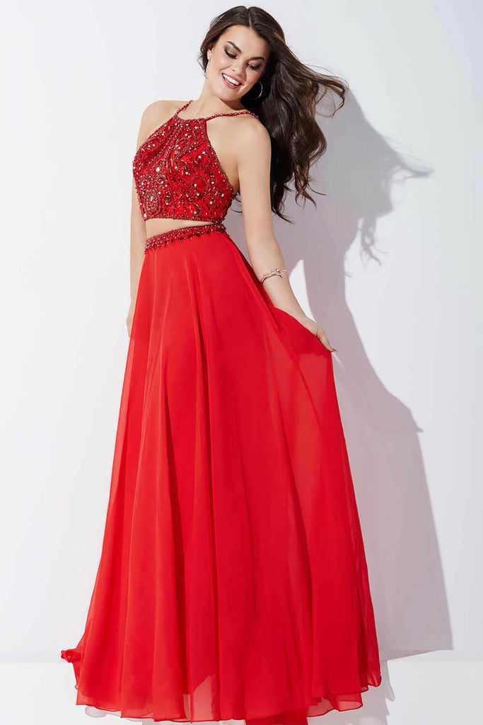 Jovani Sleeveless Two-Piece Chiffon Prom Dress 33848