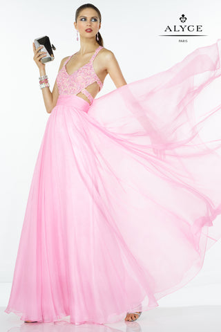Jovani Blush Jersey Two-Piece halter Dress 33493
