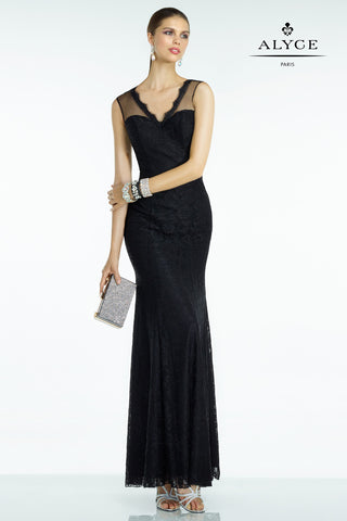 Jovani Black Strapless A-Line Prom Dress 14913