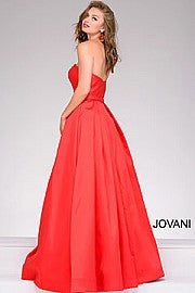 Jovani Strapless A-Line Prom Gown 39243