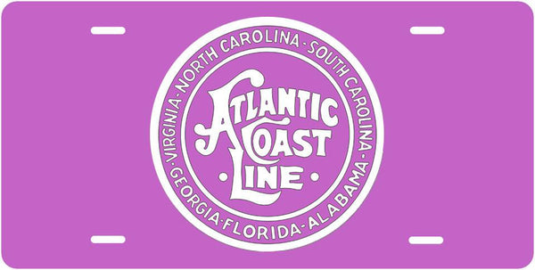 Atlantic Coast Line RR (Pink) License Plate