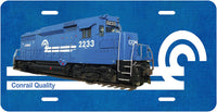 Conrail GP-30 (No. 2233) License Plate