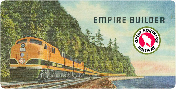 "Great Northern RY ""Empire Builder"" Wall / Desk Plaque"