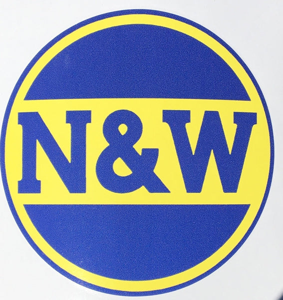 Norfolk & Western (N&W) - Hamburger Logo Vinyl Sticker