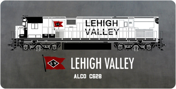 Lehigh Valley C628 (Snowbird Scheme) Wall /Desk Plaque