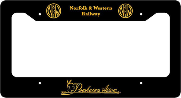 Norfolk & Western (N&W) - Powhatan Arrow - License Plate Frame