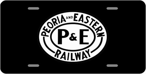 Peoria & Eastern (P&E) License Plate