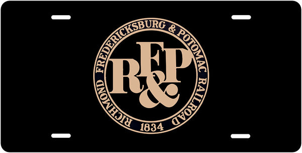Richmond, Fredricksbury & Potomac (RF&P) RR - RRBlack & Gold Herald - License Plate
