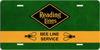 Reading Lines - Bee Line Service - License Plate