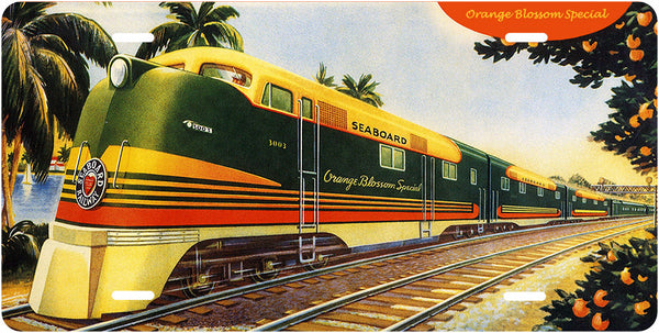 Seaboard Air Line RR - Orange Blossom Special - License Plate