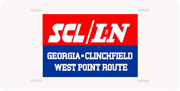 SCL/L&N - Georgia-Clinchfield-West Point Route - License Plate