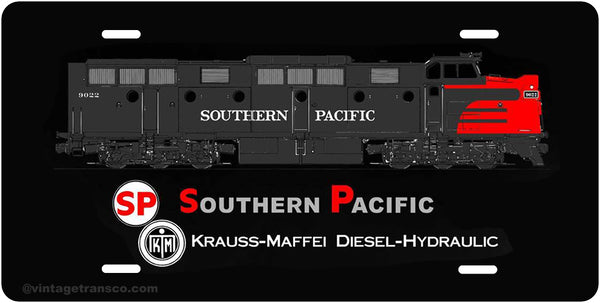 Southern Pacific Diesel License Plate