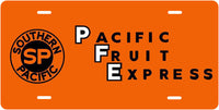 Southern Pacific (SP) Pacific Fruit Express License Plate
