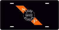 Southern Pacific (SP) Safety Slogan License Plate