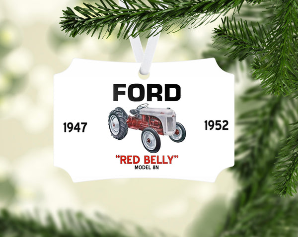 "Ford 8N ""Red Belly"" Tractor Ornament"