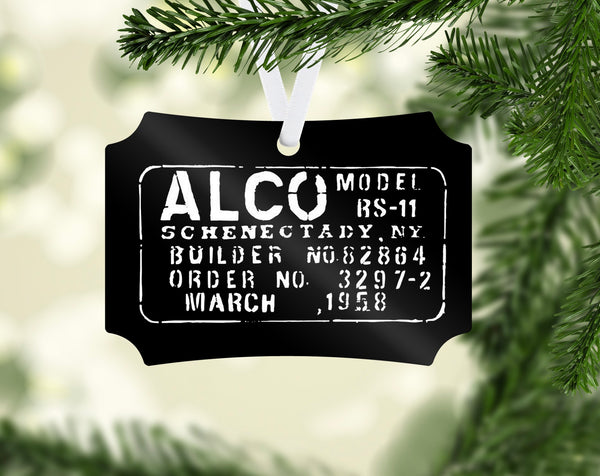 ALCO Builder Plate Ornament