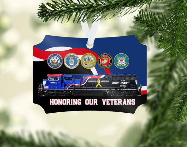 Norfolk Southern Veterans Ornament