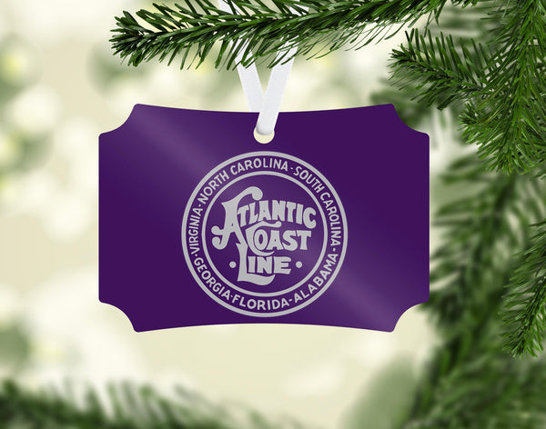 Atlantic Coast Line ACL (Purple/Silver) Ornament