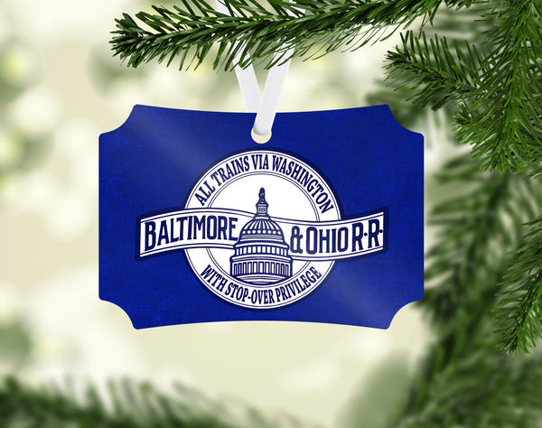 Baltimore & Ohio (B&OH) All Trains Via Washington Ornament