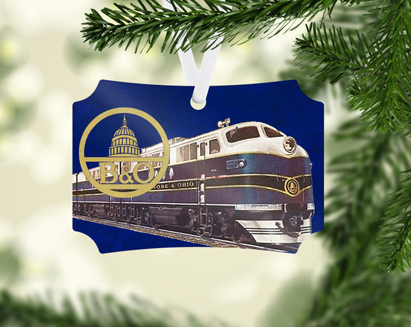 Baltimore & Ohio (B&OH) Locomotive Ornament