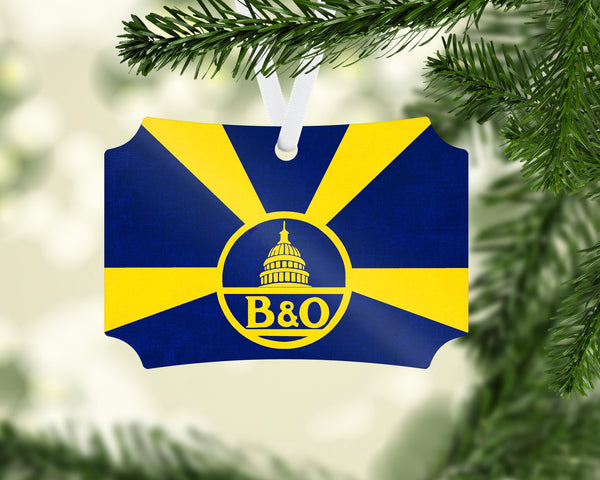 Baltimore & Ohio (B&OH) Sunburst Ornament