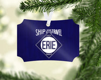 "Erie RR ""Ship & Travel"" Ornament"